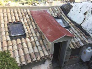 Roof with velux windows