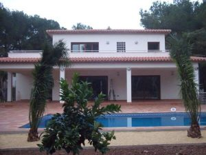 rebuilt villa with pool