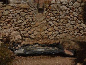 stone margin construction with drain